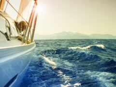 яхта, океан, парусник