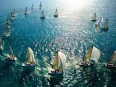 яхта, sail, море