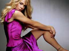 платье, девушка, фиолетовом