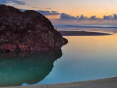 пляж, идея, природа