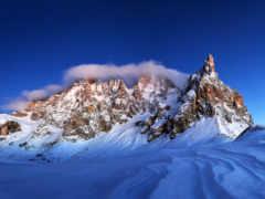 горы, снег, красивые