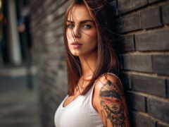 девушка, татуировкой, яndex