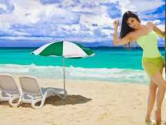 пляж, изображение, fotos