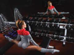 девушка, stretching, спорт