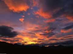 закат, красивый, восход