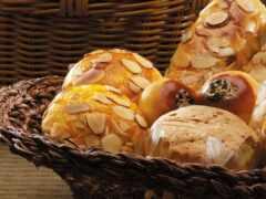 хлеб, корзина, булочка