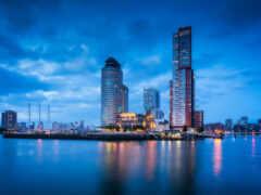 порт, город, роттердам