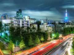 tokio, город, ночь