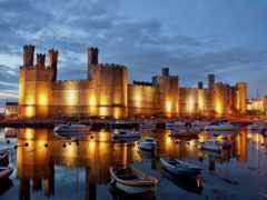 castle, caernarfon, wales