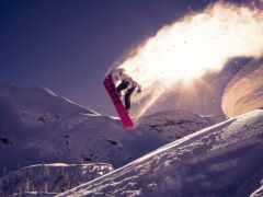сноуборд, snowboarding, гора