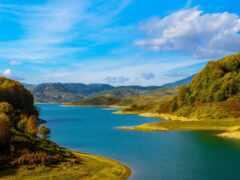 озеро, blue, небо