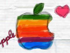 apple рисунок в тетрадке