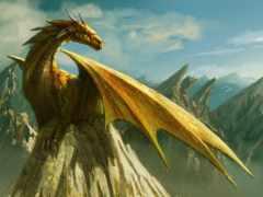 дракон на горе
