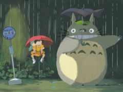 тоторо, anime, зонтик
