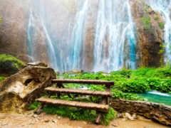 водопад, природа, kartinik