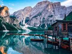 italian, озеро, лодка