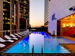 бассейн, небоскрёба, hotel