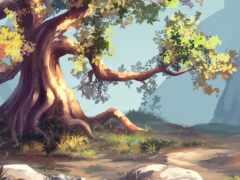 фон, природа, дерево