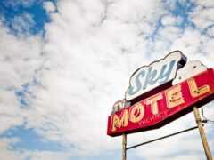 минимализм, signboard, motel