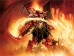 демон, демоны, огня