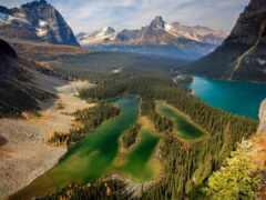 озеро, взгляд, plateau