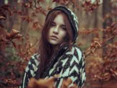 portrait, осень, leaf