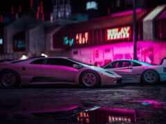car, neon, luxury