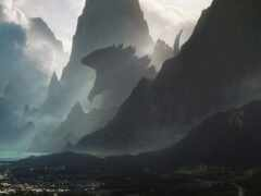 godzilla, гора, pic