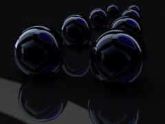 черные шары,