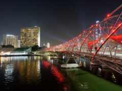 singapore, bay, мост