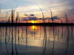 природы, солнца, закатами