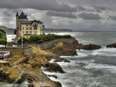 море, biarritz, aquitaine