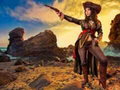 cosplay, пиратка, девушка