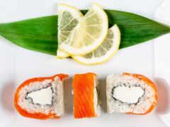 lemon, еда, рис