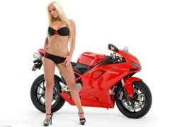 мото, bike, femme
