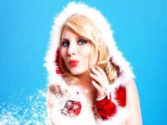 christmas, девушка, snowflakes