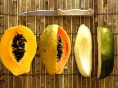 papaya, папайи, плод