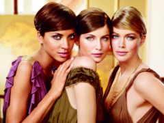 трио, сестры, фотошопа