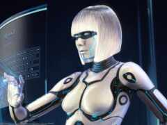 robot, девушка, друг