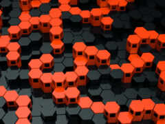 оранжевый, structure, hexagon