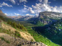 montana, glacier, природа