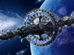 станция, космоса, cosmic