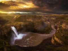 palouse, водопад, washington
