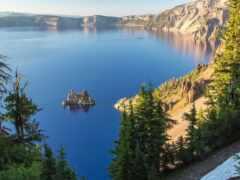 озеро, crater, природа