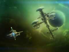 космос, корабль, фантастика