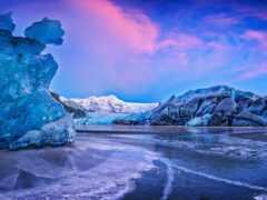 glacier, гора, природа