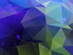 треугольник, голубой, синий