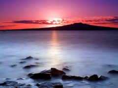 закат, красивый, природы