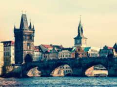 прага, город, мост