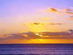 закат, ocean, природа